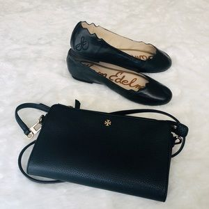 The are  some Sam  shoes Edelman flat color black